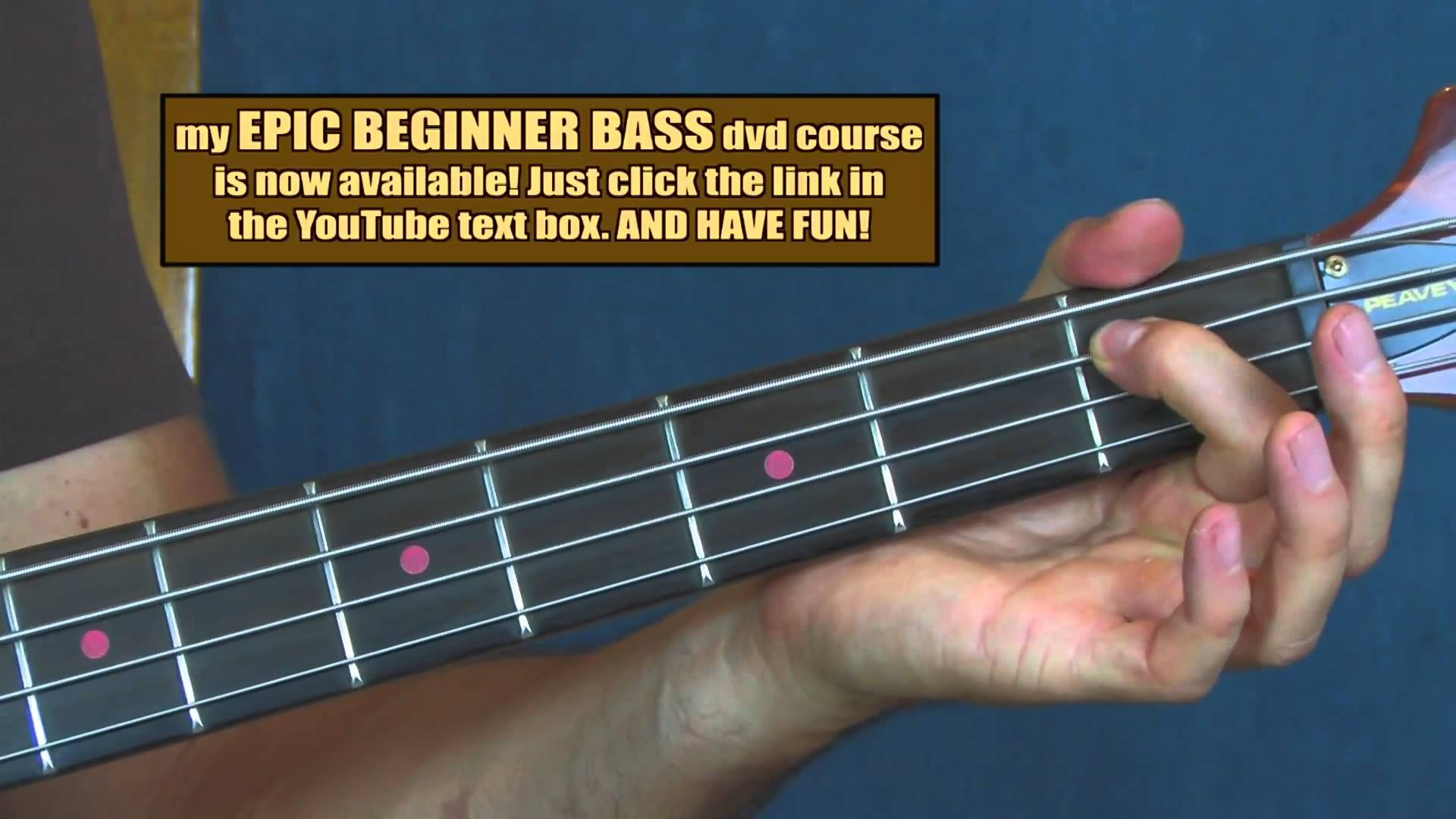 Beginner Bass Guitar Lesson Polly Nirvana New Wave Bass Play