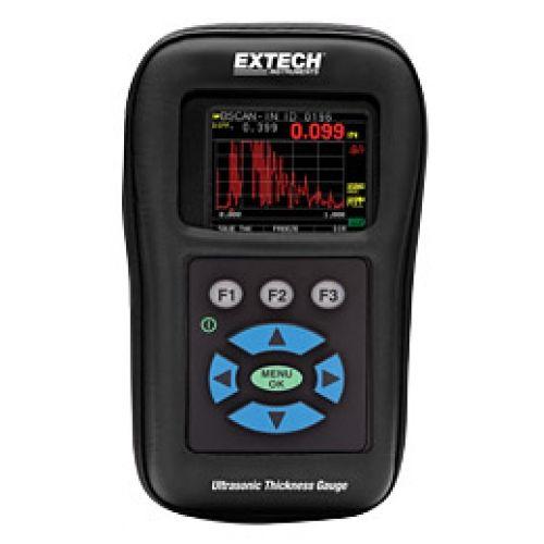 http://termometer.dk/specialmaler-r13485/tykkelses-och-hardhedsmaler-r13518/digital-ultrasonic-tykkelse-gauge-datalogger-med-color-waveform-53-TKG250-r35458  Digital Ultrasonic Tykkelse Gauge / Datalogger med Color Waveform  Måleområde Vidvinkel:  5 MHz probe: 1 mm til 510 mm stål  10MHz probe: 0,5 mm til 510 mm af stål (ekstraudstyr)  Farve-LCD-display med rød, gul og grøn visuel indikation alarm  100K intern datalogger med eksport til Excel  Echo til Echo mulighed for at reducere...