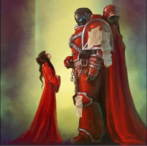I like the scale...Argal Tal and the Blessed Lady, Word Bearer