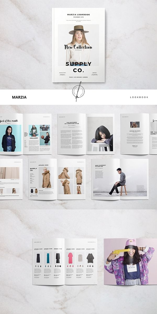 Marzia Lookbook bookbinding and layout Pinterest Layouts - fashion design brochure template