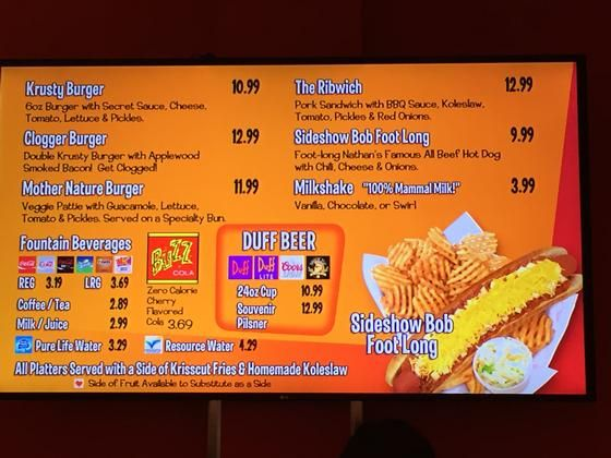 photo relating to Moes Printable Menu called Krusty Burger and Moes Tavern By now Open up At Common Studios
