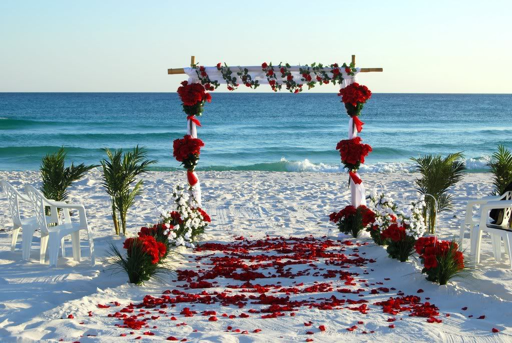 Red And White Beach Wedding What I Want Beach Wedding Red