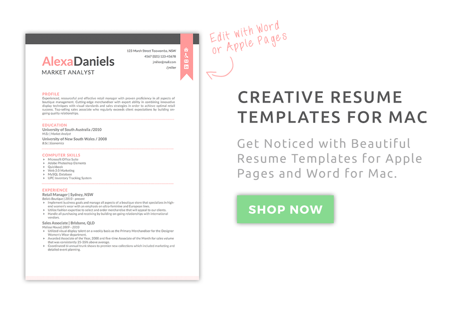 resume templates apple pages  2