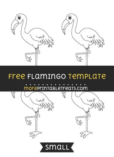 Free Flamingo Template - Small | Shapes and Templates Printables ...