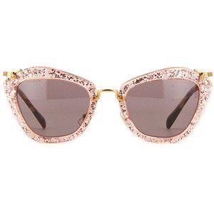 61075ff4ff1 Miu Miu Noir Pink Glitter Sunglasses