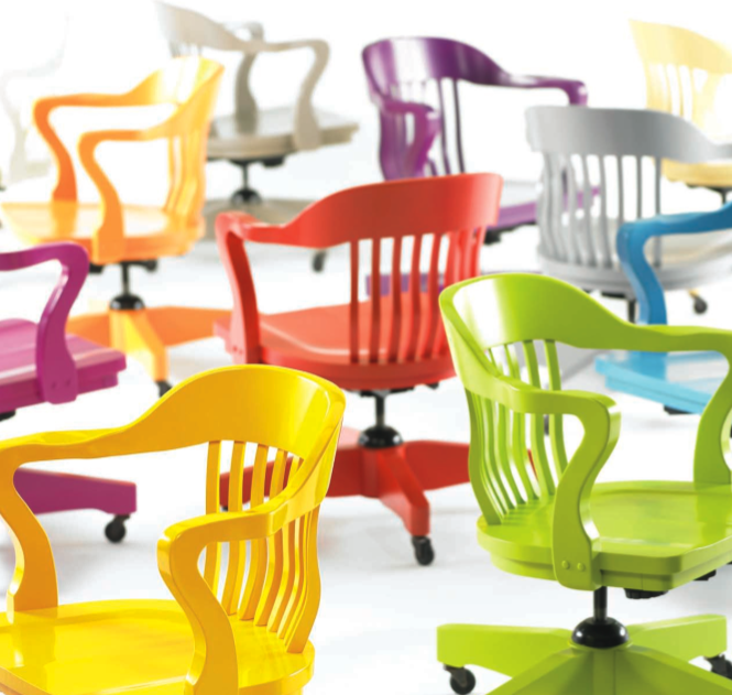colored office chairs. colorful office chairs | sayeh pezeshki la brand, logo and web designer colored f