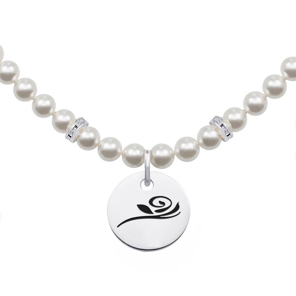 Alpha gamma delta symbol pearl necklace with round charm products alpha gamma delta symbol pearl necklace with round charm buycottarizona Gallery