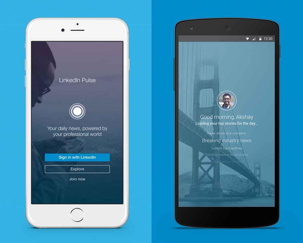 Linkedin Pulse iPhone and Android Blog marketing
