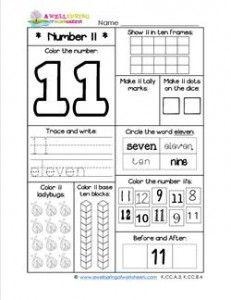 Number worksheets for kindergarten beautiful flowers pinterest number worksheets number 11 worksheet ibookread ePUb