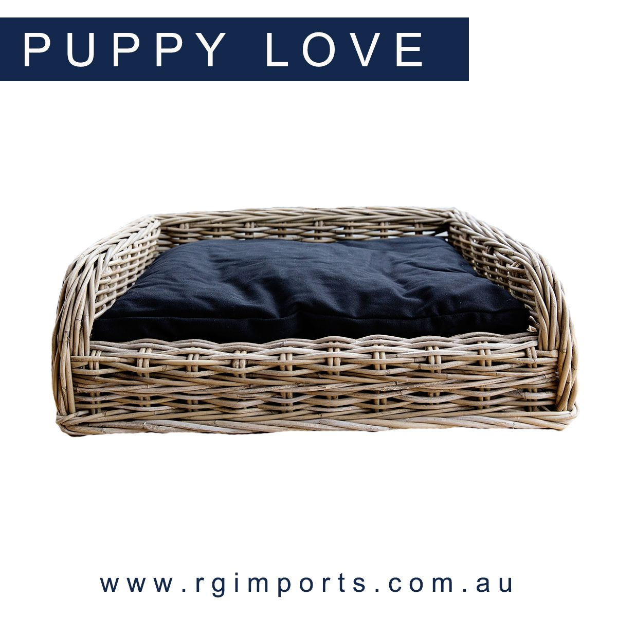 Make your puppy's day with our Vintage Rattan Dog Bed that