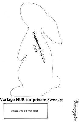 Hase Vorlage Zum Selber Machen Ostern Pinterest Hase Vorlagen