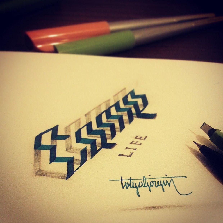 3d Calligraphy By Tolga Girgin Prepare To Be Amazed