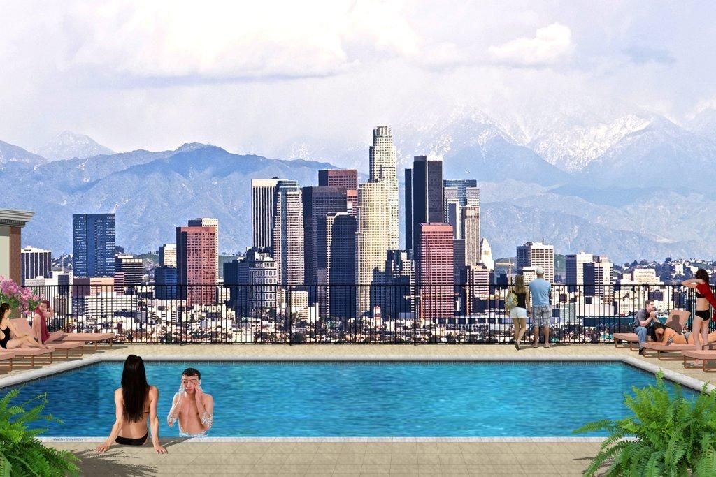 The best Rooftop pools near USC @ Lorenzo