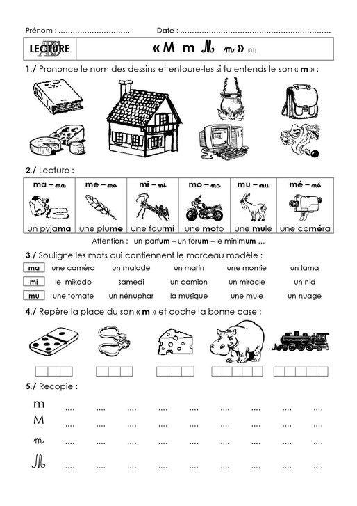 Sons simples : exercices (avec images) | Apprentissage de ...