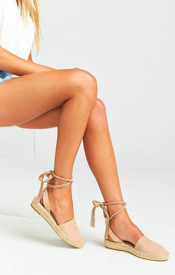 9ea416df136 Show Me Your Mumu Steve Madden ~ Mesa Wrap Up Sandals ~ Nude Suede