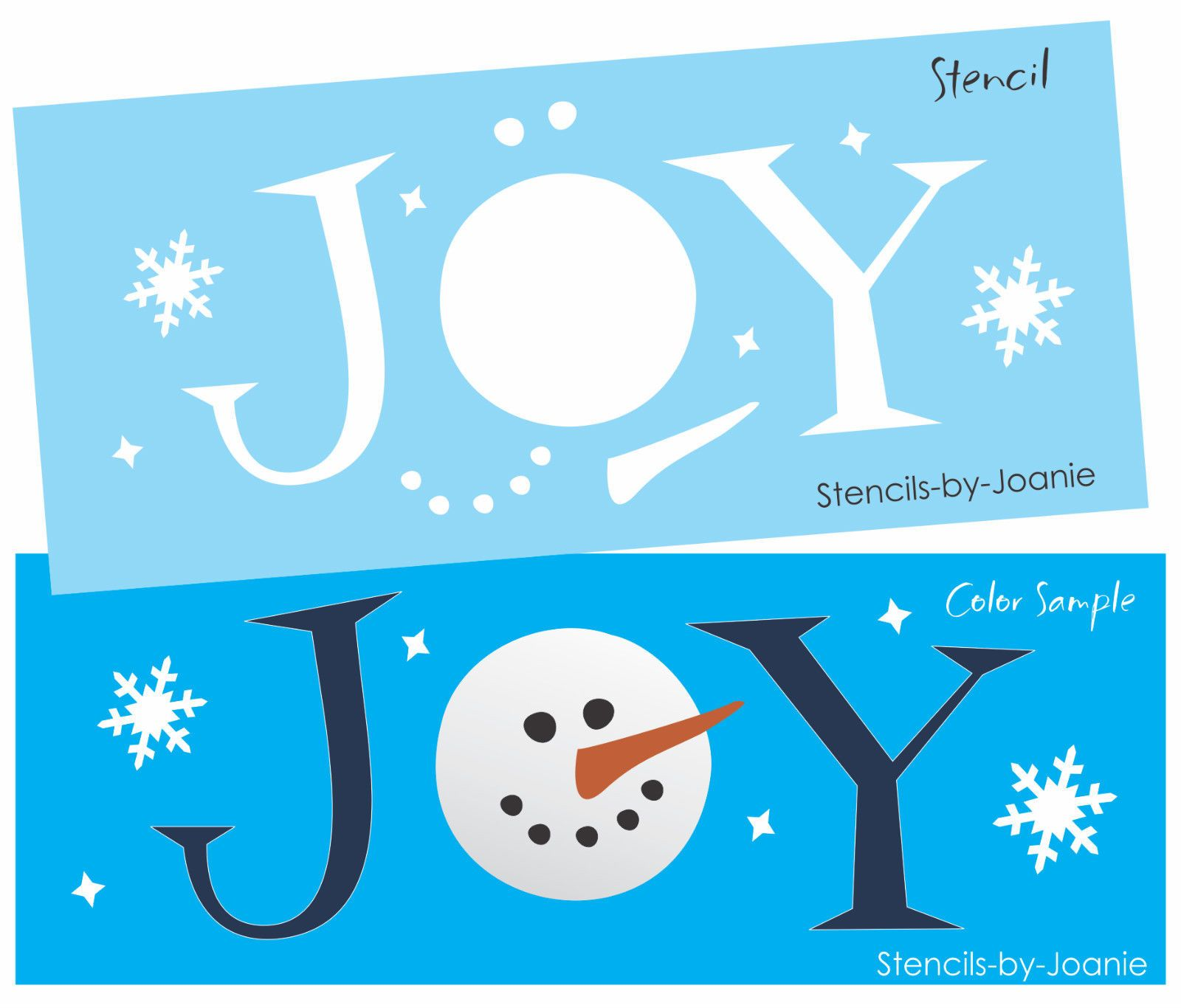 Details about Stencil Joy Frosty Snowman Face Carrot Nose