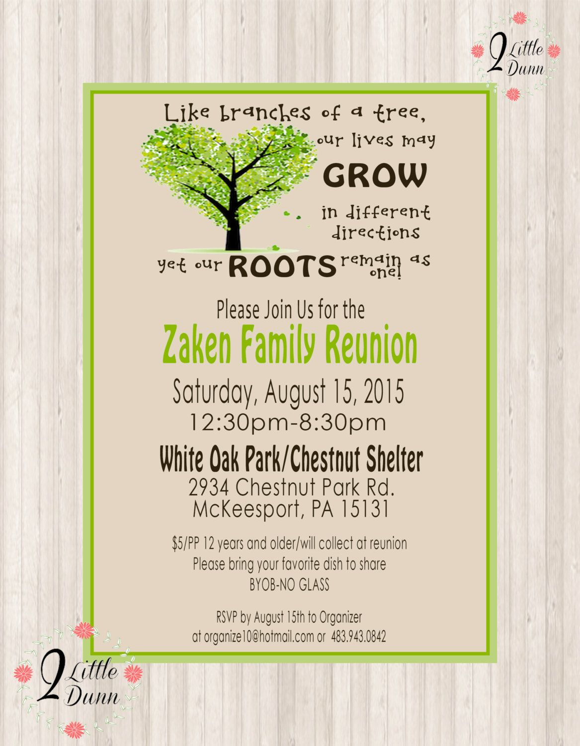 Pin On Flyers Family reunion invitation template free