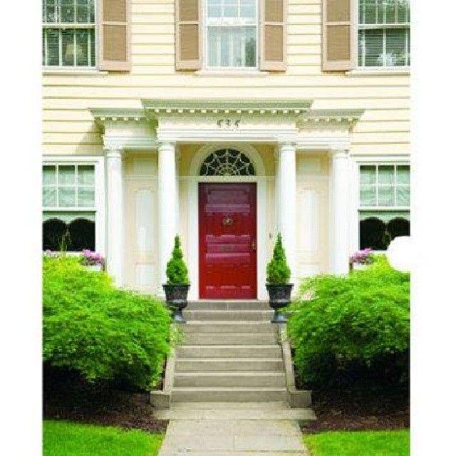 Log In Instagram Curb Appeal Traditional Front Doors Red Front Door