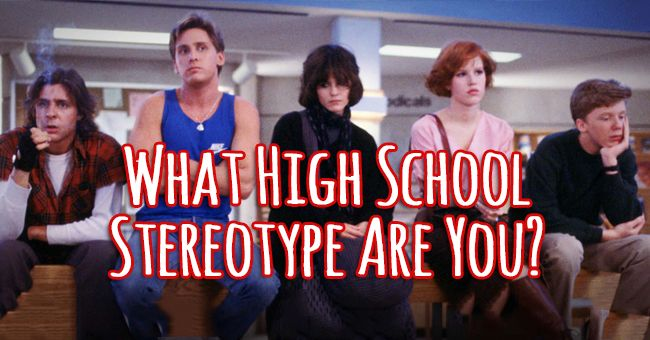 What High School Stereotype Are You? | Quiz Social I got ...