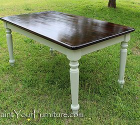 Refinishing A Dining Room Table With Paint And Wood Stain Dining