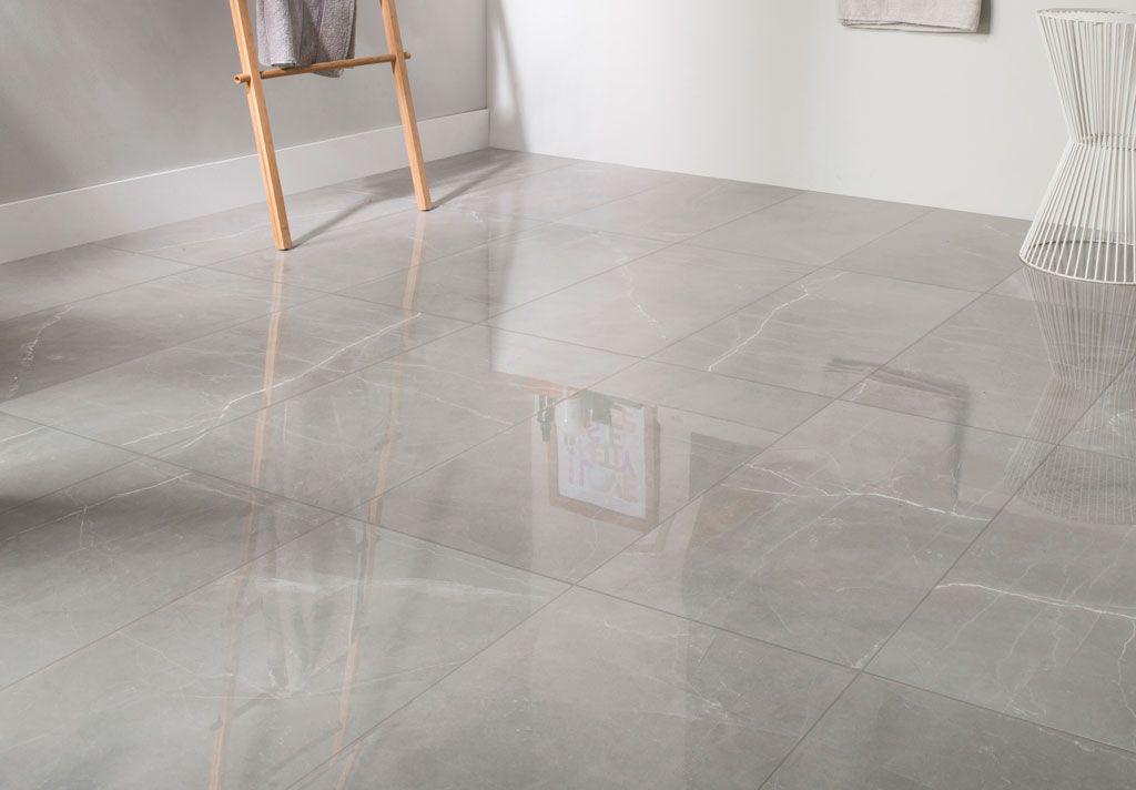 carrelage sol et mur gris effet marbre