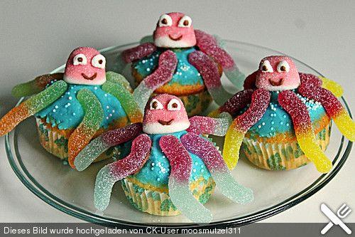 kraken muffins kindergeburtstag pinterest kuchen backen und kuchen kindergeburtstag. Black Bedroom Furniture Sets. Home Design Ideas