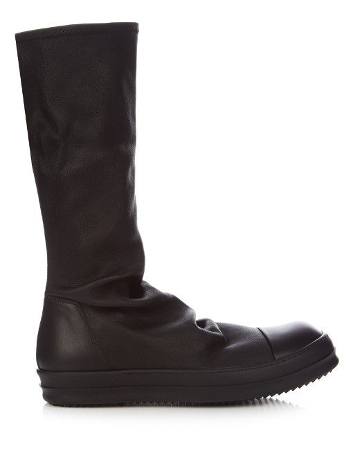 09c015d86b9 RICK OWENS Cyclops Stretch-Leather Sock High-Top Trainers.  rickowens   shoes  sneakers