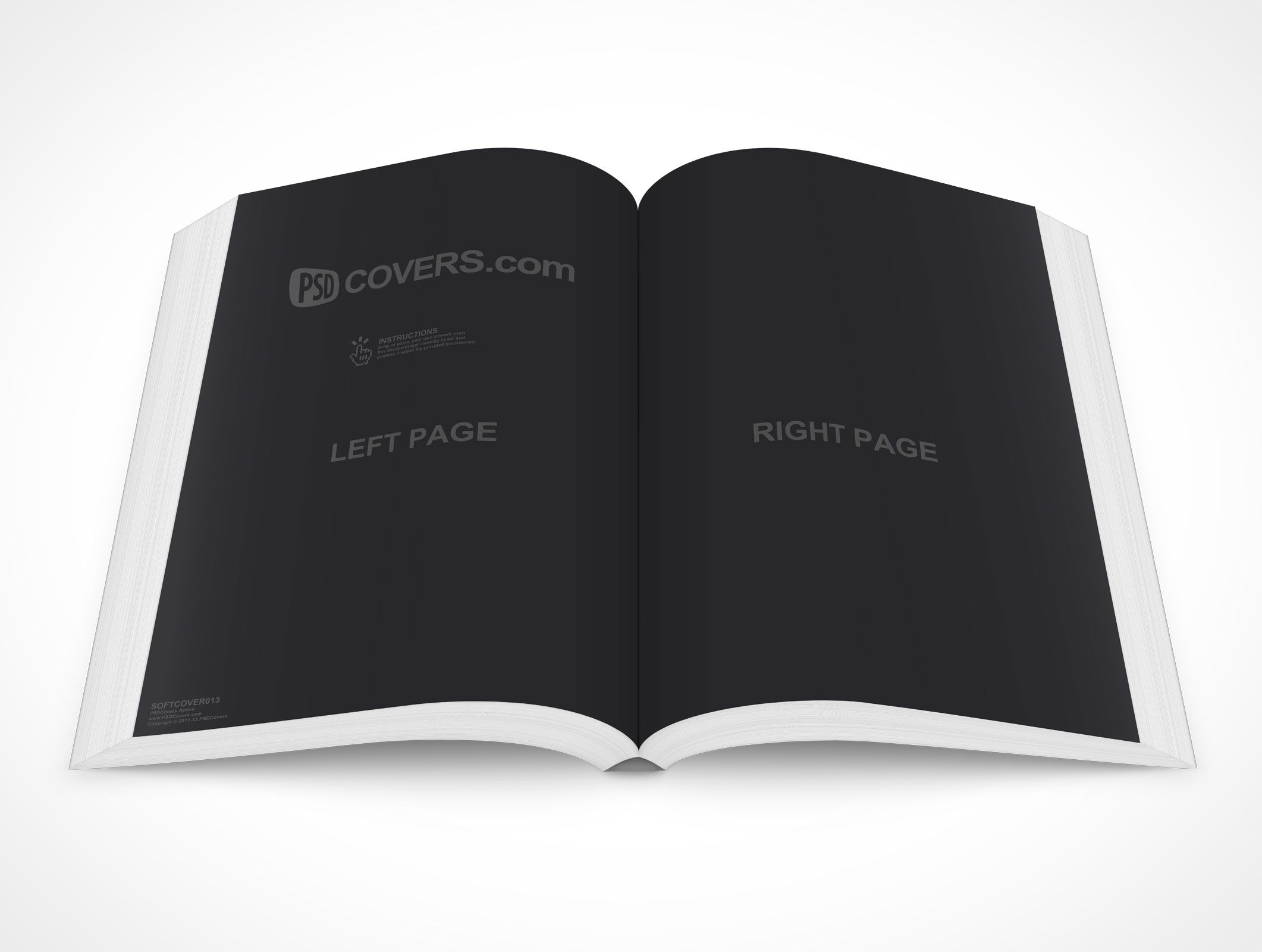 Softcover013 Is An Open Book Mockup Laying On A Flat Surface This Psd Mockup Template Is Rendered Face On Looki Psd Mockup Template Mockup Psd Mockup Template