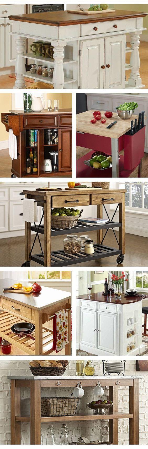 best 25+ small kitchen carts ideas | décorer cuisine, idées pour