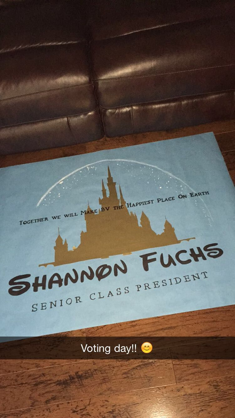 Cute Disney election poster | Crafts | Student council ...