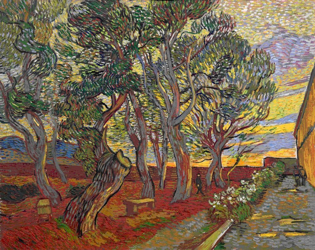 The Garden of Saint Paul's Hospital by Vincent van Gogh.