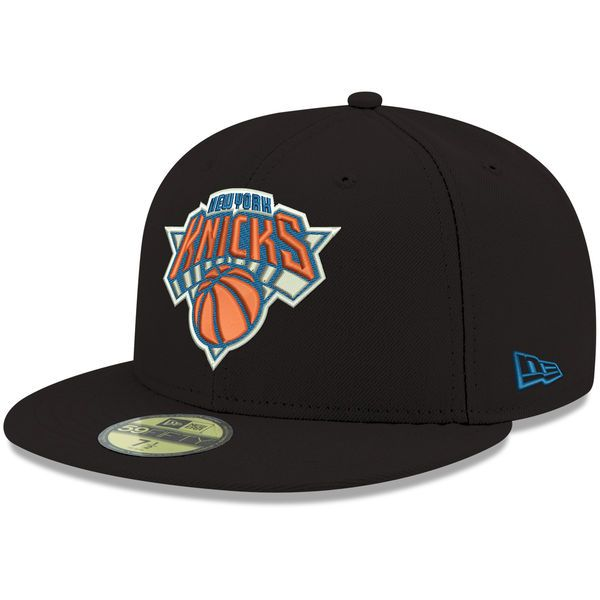 promo code 723ba 714cb New York Knicks New Era Official Team Color 59FIFTY Fitted Hat - Black -   34.99