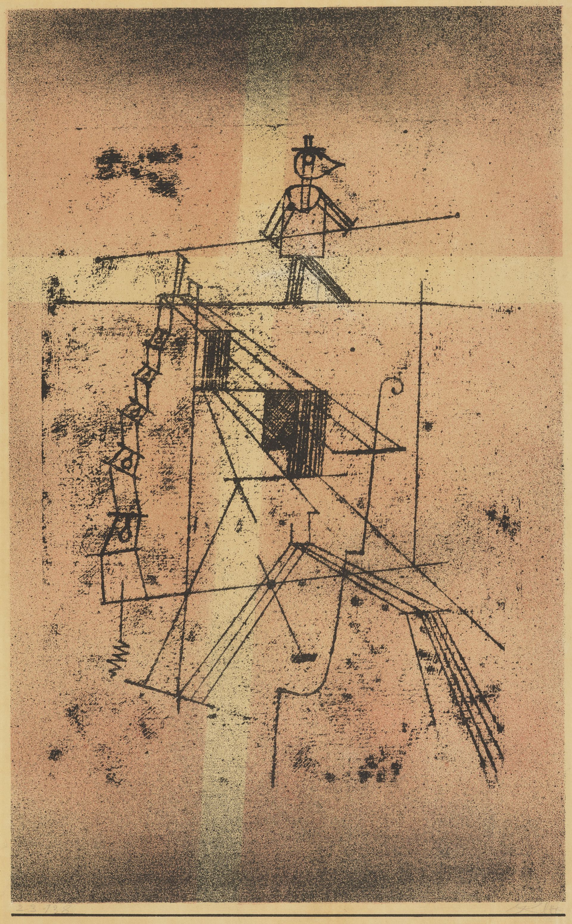 paul klee: tightrope walker | 1923 | national galleries of scotland, edinburgh - #edinburgh #galleries #national #scotland #tightrope #walker - #PaulKlee