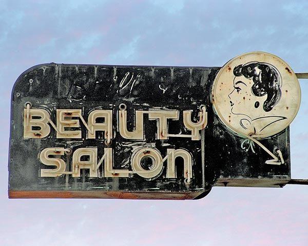 Belles Beauty Salon Vintage Image