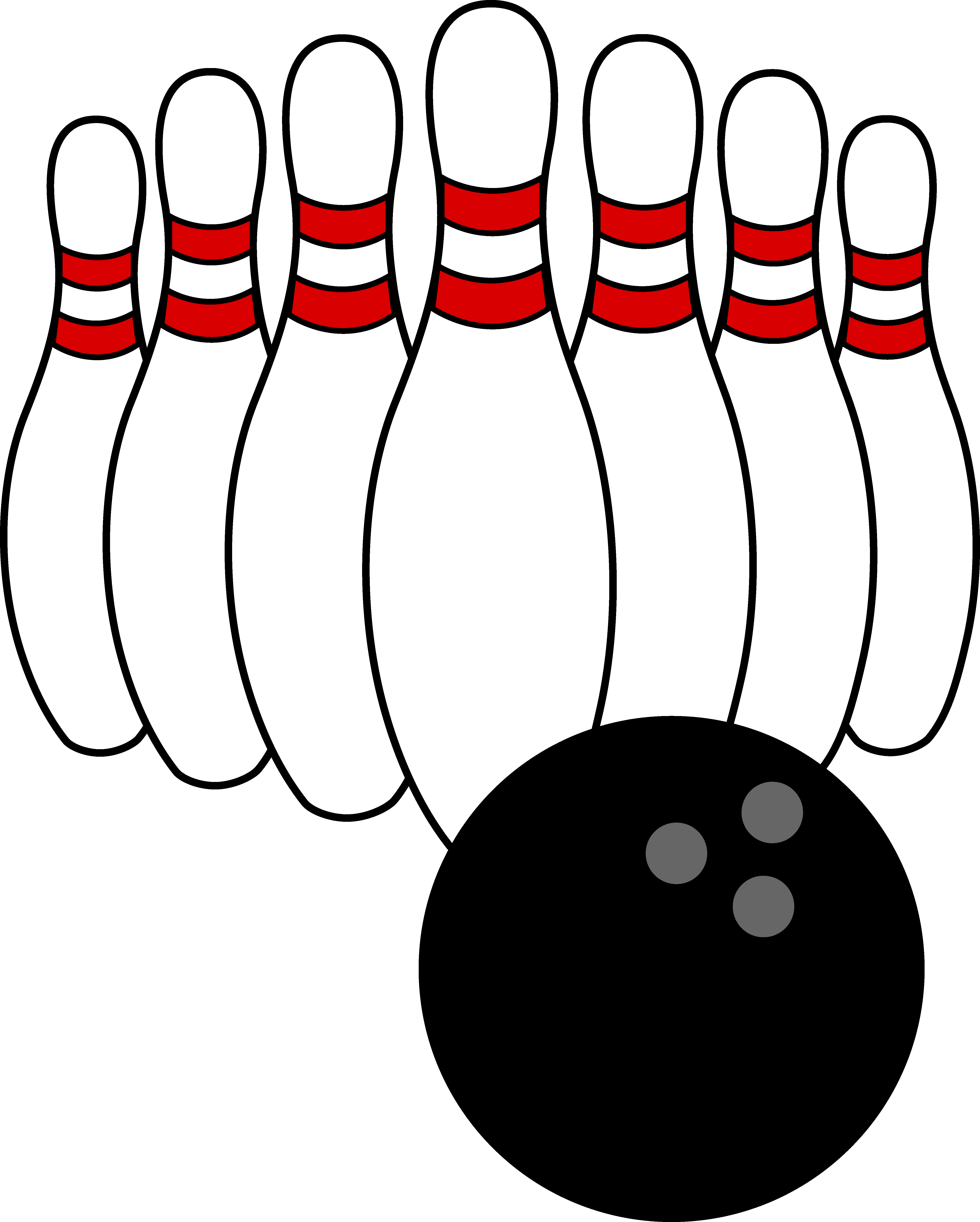 Bowling logo. Clip art ball and
