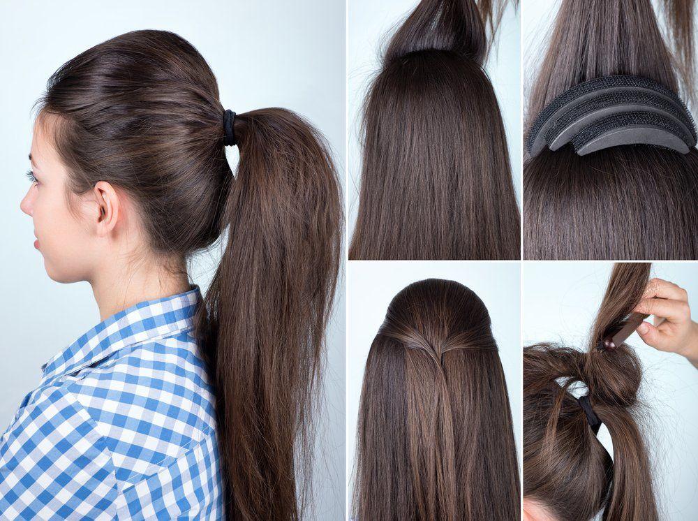 Tutorial Toupierter Volumen Zopf Frisuren Zopf Frisuren