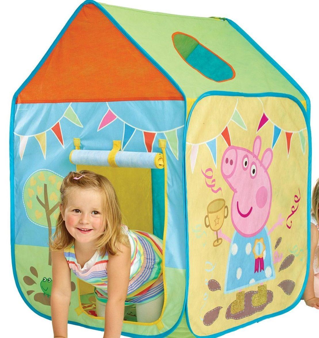 Casita infantil peppa pig de tela 156pgg01e indalchess for Casita infantil jardin