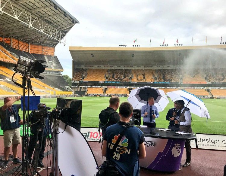 A day onlocation in England with NBC Sports' broadcast