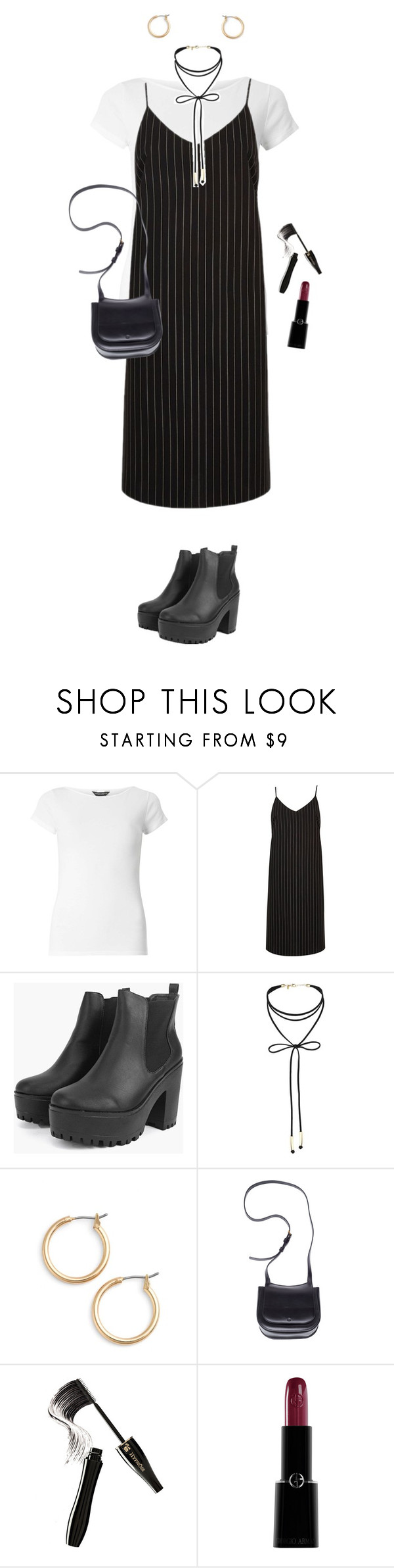 """2"" by rosexdagger ❤ liked on Polyvore featuring Dorothy Perkins, River Island, Miss Selfridge, Nordstrom, The Row, Lancôme, Giorgio Armani and grunge"