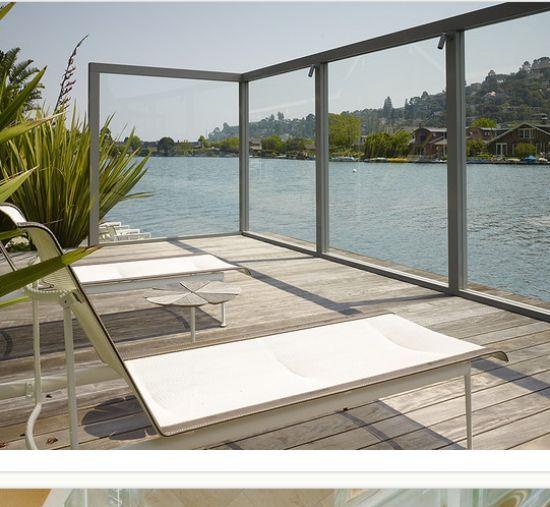 Wooden Deck Transparent Screens Garden And Balcony Wind
