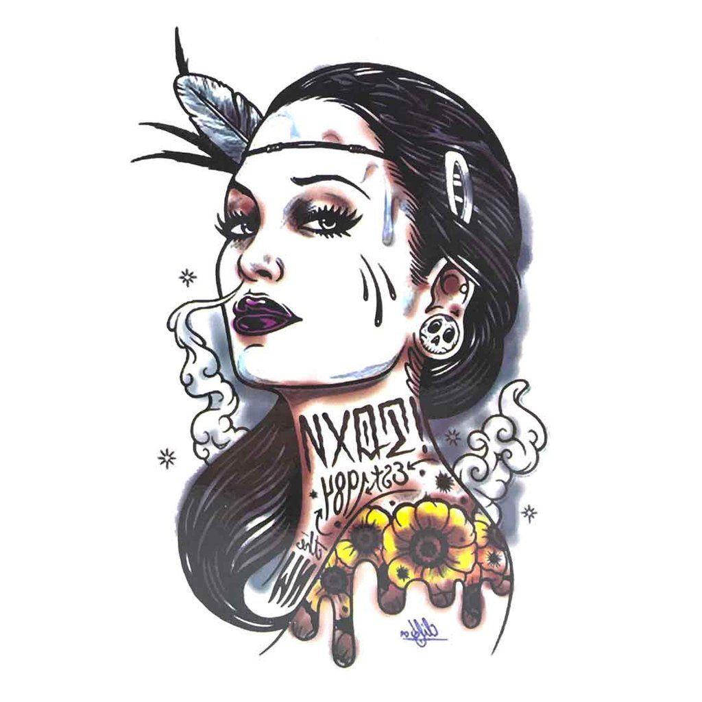 QSA042 Temporary Tattoo Sticker 15*21 CM(5.9*8.2 IN