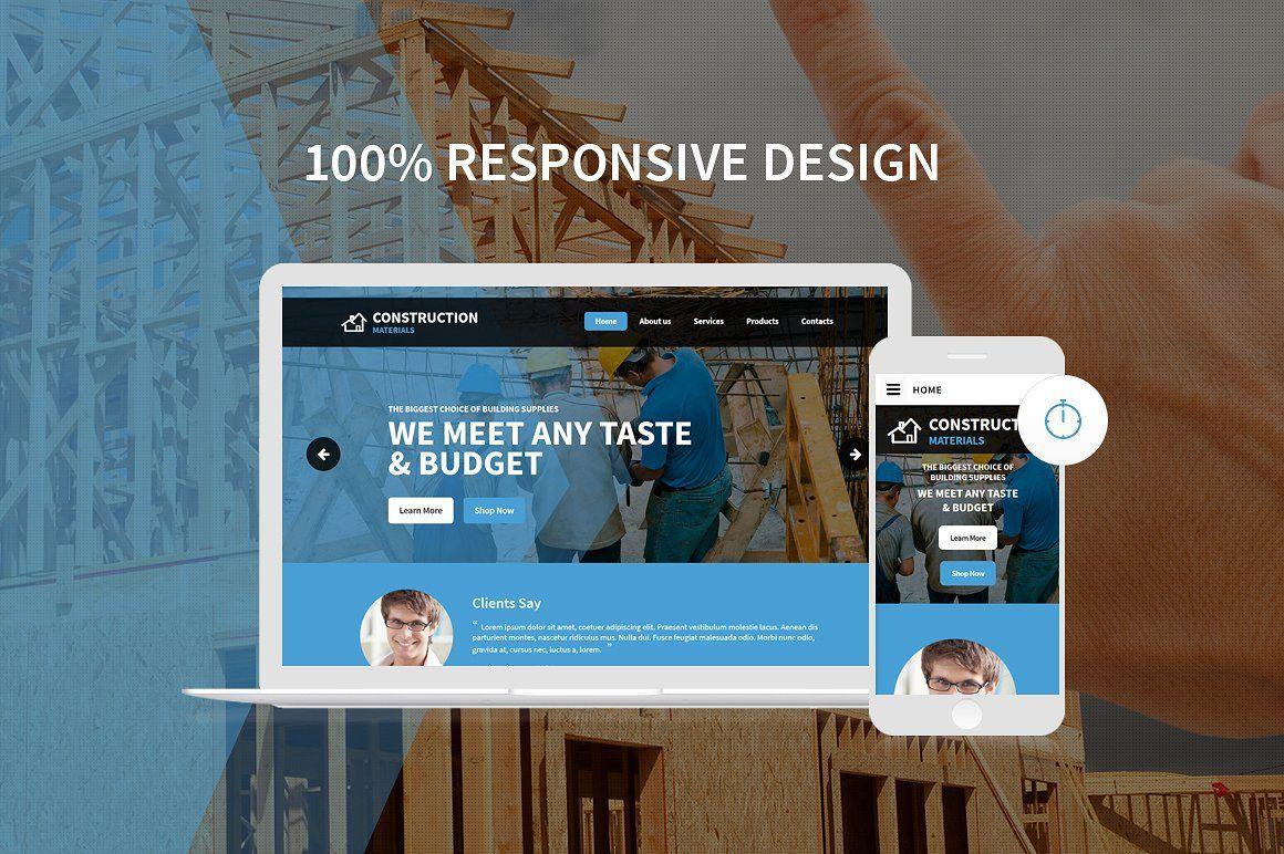 Construction Company HTML Template architecture