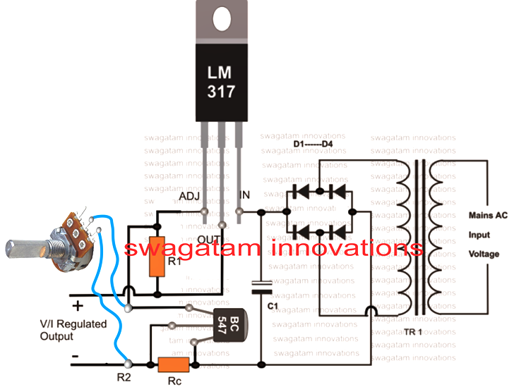 how to connect pot with lm317 or lm338 circuit b3 charger lm317 voltage regulator build a 5 amp portable power supply