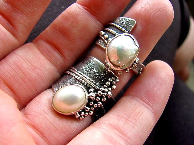 ring item rings lampwork galaxy jewelry glass shop ball order artisan silver transparent lam
