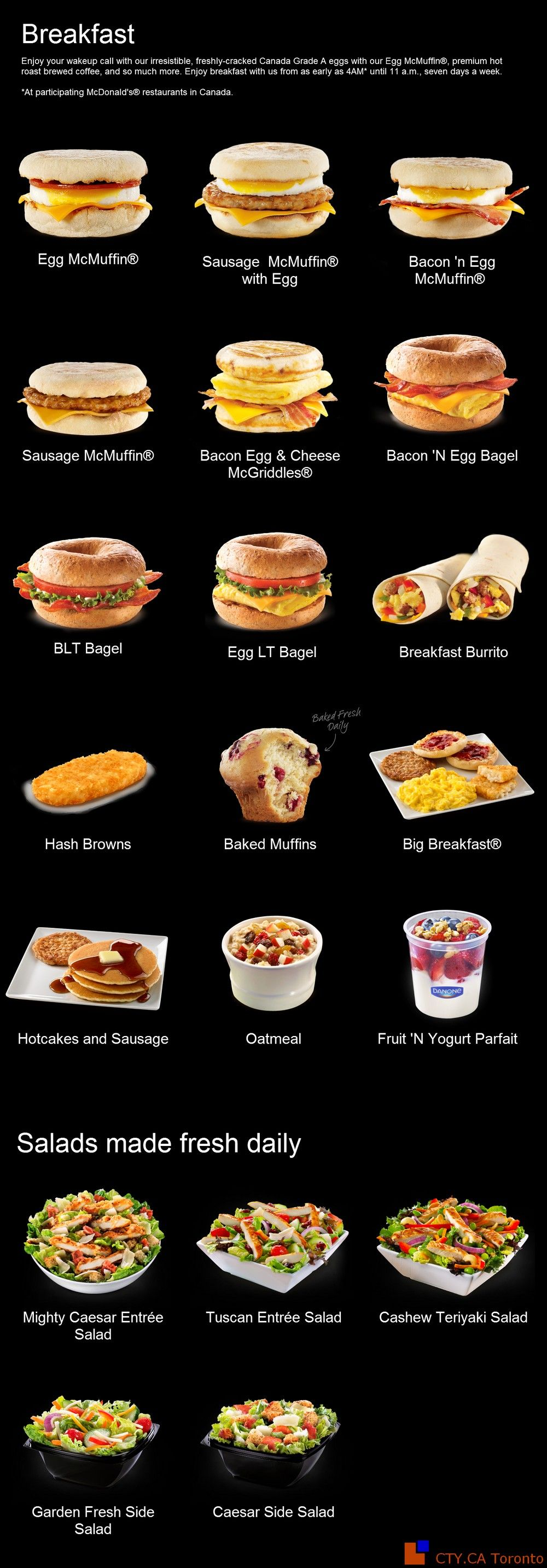 Mcdonald S Menus Breakfast Burger Bar