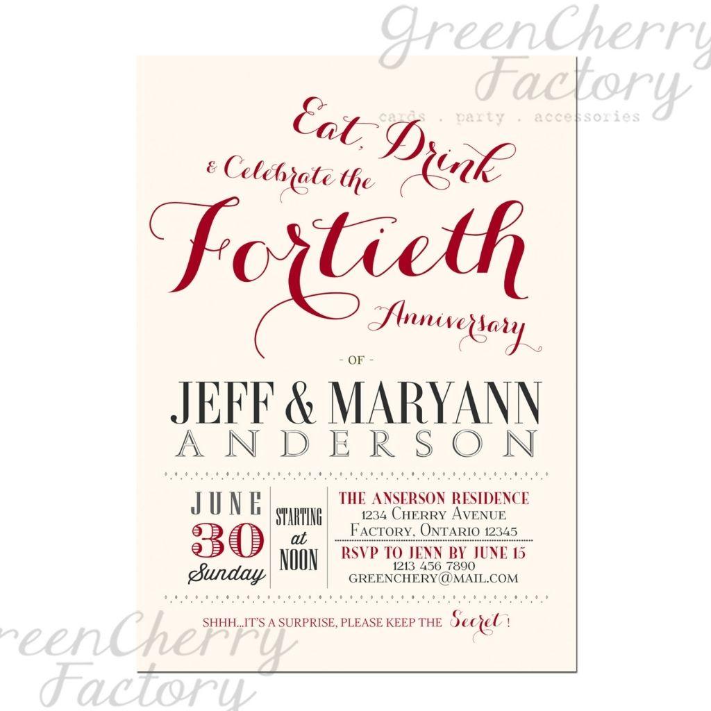 40th wedding anniversary invitations | Wedding | Pinterest | Wedding ...