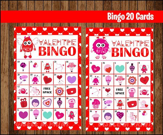picture relating to Printable Valentines Bingo Cards named Pinterest