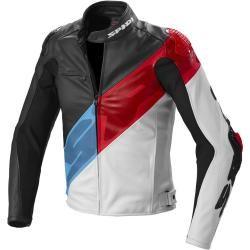 Spidi Super-R motorcycle leather jacket red blue 52 Spidi