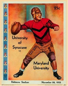 1935 Poster vs. Maryland (With images) Football