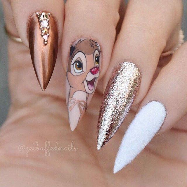 christmas almond shaped nails